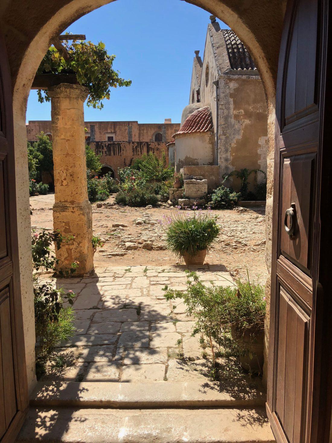 Arkadi Monastery - Monastery's backyard